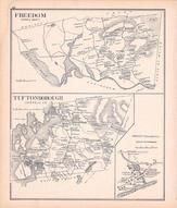 Freedom, Tuftonborough, Melvin Village, New Hampshire State Atlas 1892 Uncolored